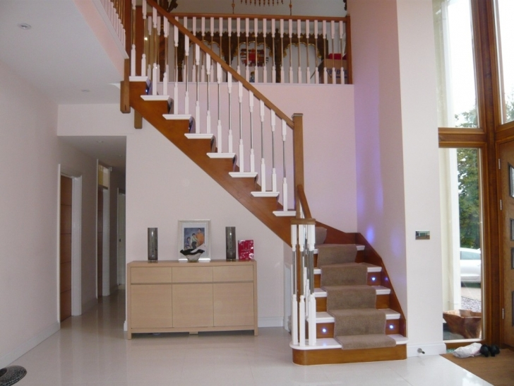 Oak Staircase Design Single Winder String Images