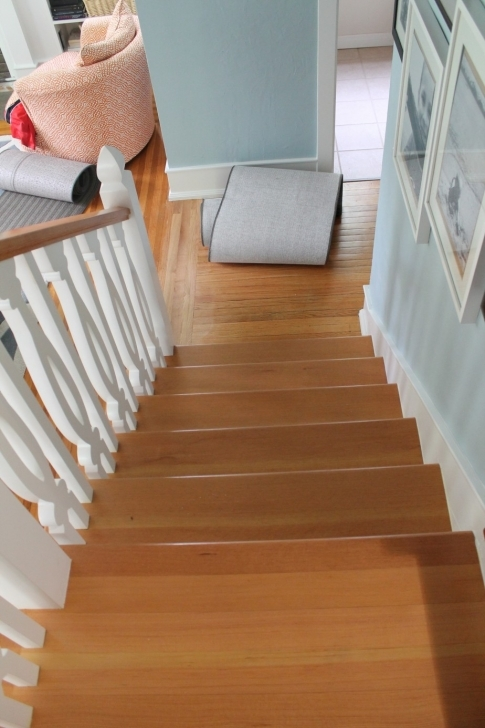 Oak Staircase Design White Wood Stair Runner Pic