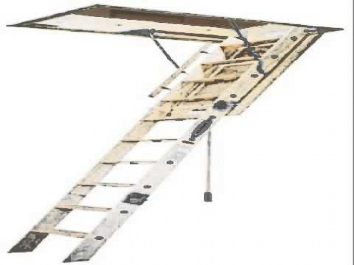 Outstanding Attic Stairs Pull Down Pole Within Energy Efficient Attic Ladder Picture