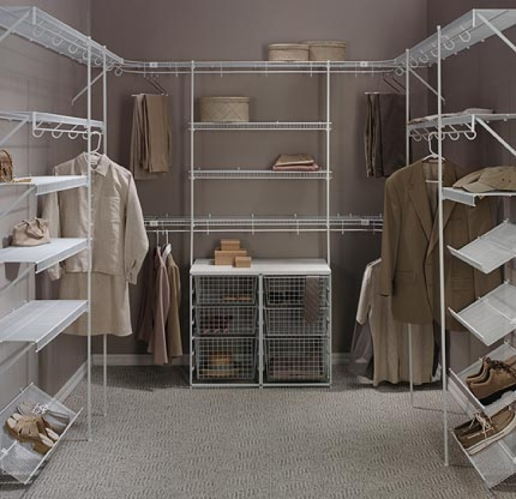 Wire Shelving Units for Closets Regarding Diy Shelves For Walk In Closet Image