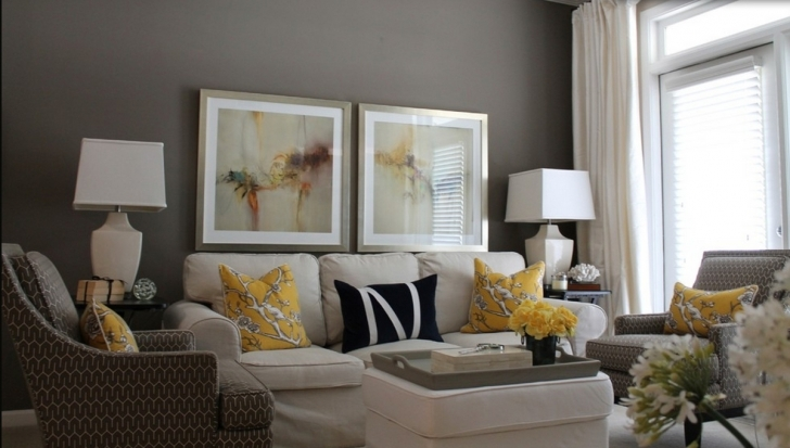 Stylish Grey Color Schemes For Living Room Inside White Home Design Galery Pic