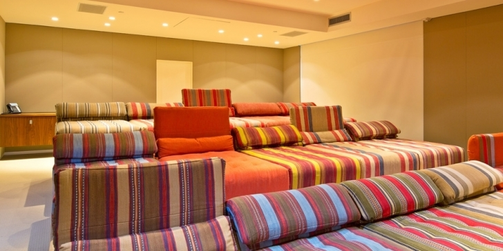 Stylish Home Theatre Seating Ideas Inside Kick Back And Relax Home Design Image
