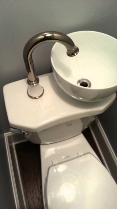 Toilet Sink Combo Inside Space And Water Saving Pic