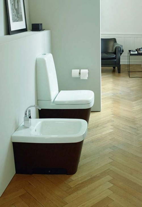 Toilet Sink Combo With Creative Interior  Picture