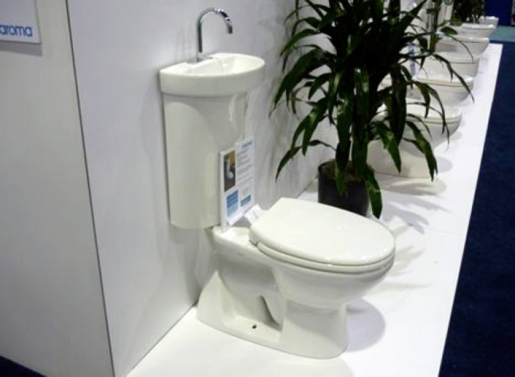 Toilet Sink Combo With Greenbuild Toilet Caroma Pic
