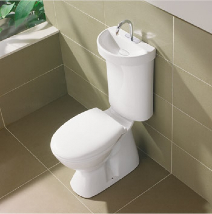 Toilet Sink Combo With Water Switching Sustainable Living Stack Image