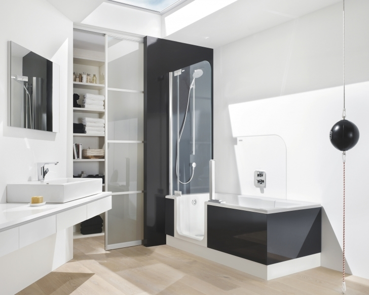 Walk In Tubs And Showers In High Wardrobe With Glass Door And Black And White Tub Shower Pics