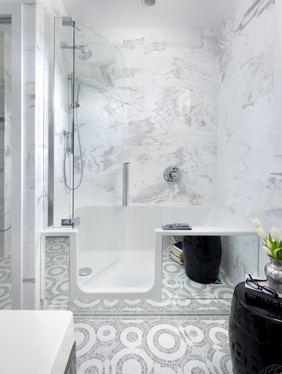 Walk In Tubs And Showers In Walk In Bathtub Shower Combo Ideas Pic