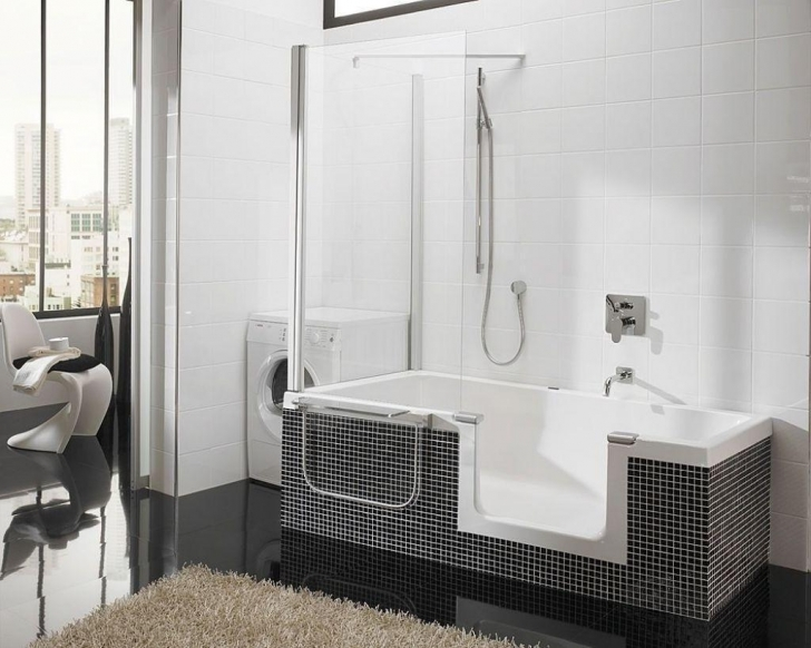 Walk In Tubs And Showers Regarding Black And White Image