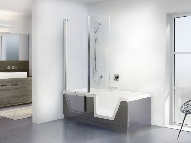 Walk In Tubs And Showers Regarding White Acrylic Rectangular White Step In Bathtub Right Side Drain Pictures