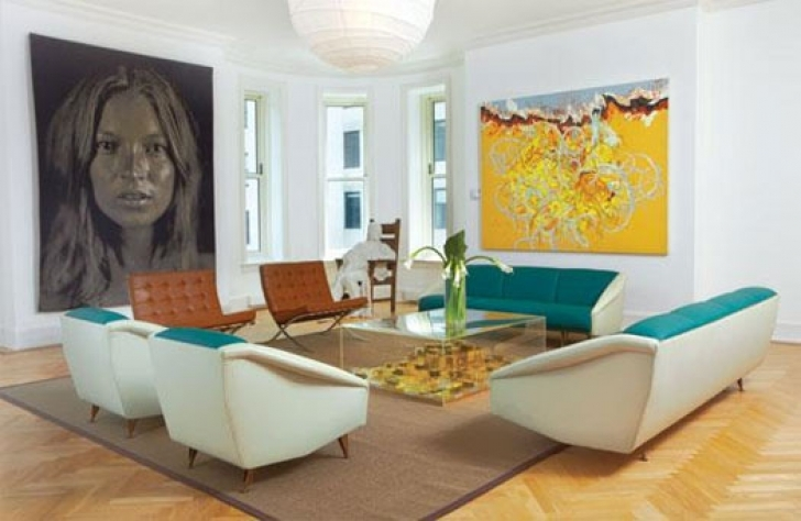 Wall Art Matters Most In Interior Design In Delightful New York Condo Living Room Calfinder Photo