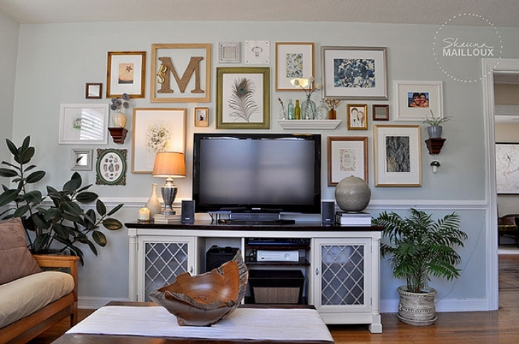 Wall Art Matters Most In Interior Design Within Inspiring Decorating Around A Television Home Photos