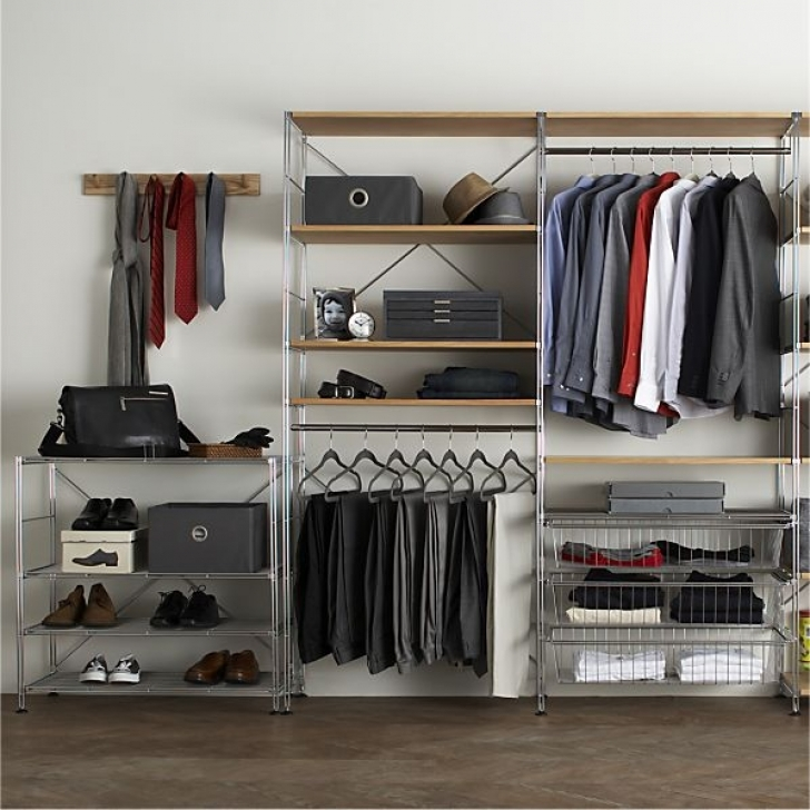 Wire Shelving Units for Closets With Chrome Modular Shelving Set Pictures