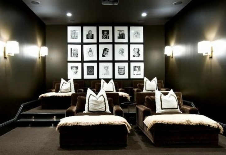 Wonderful Home Theater Seating Design Ideas Throughout Amazing Chairs Black And White Photos