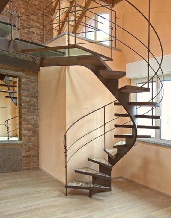 Wooden Spiral Staircase In Brilliant Metal Fence Light Brown Spiral Staircase Backbone Spiral Staircase Pics666