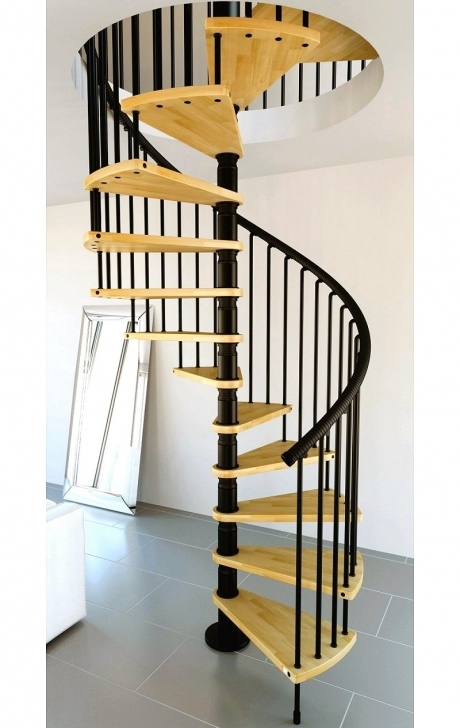 Wooden Spiral Staircase Inside Amazing Dark Black Fence Spiral Staircase Natural Wood Color Pictures117