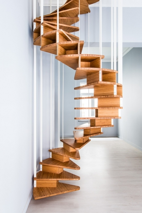 Wooden Spiral Staircase Inside Attractive Wood Spiral Staircase Olmo Jo A Design Images282