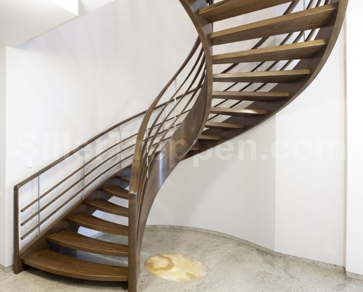 Wooden Spiral Staircase Regarding Gorgeous Delectable Furniture Luxurious Spiral Style Staircase Photo082