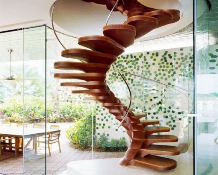 Wooden Spiral Staircase With Amazing Spiral Staircases Modern Contemporary Wooden Pictures527