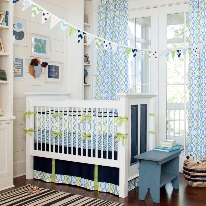 Baby Bedding For Boys Marvelous Navy Waves Crib Bedding Large