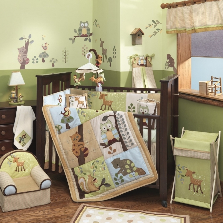 Baby Crib Bedding Sets For Boys Light Green Color Picture