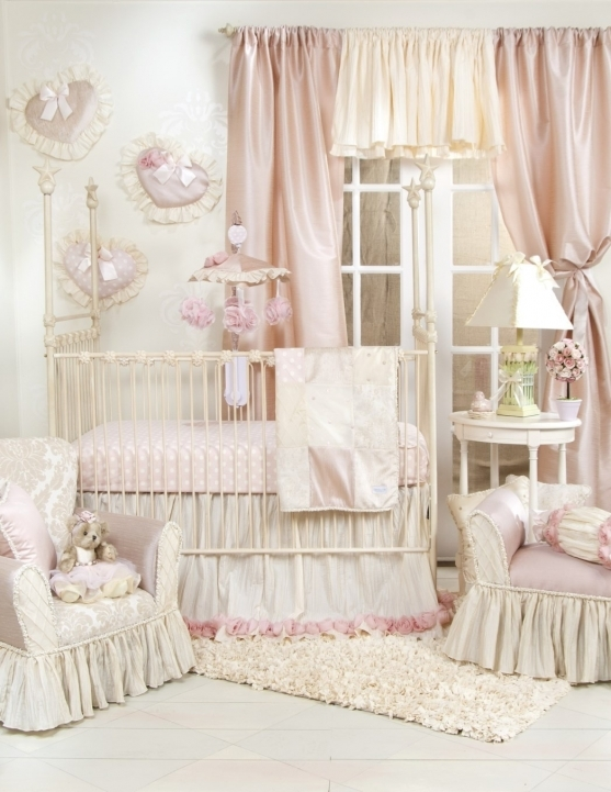 Baby Crib Bedding Sets Girl Baby Nursery Room Decoration Using White Iron Canopy Simple Ideas Images