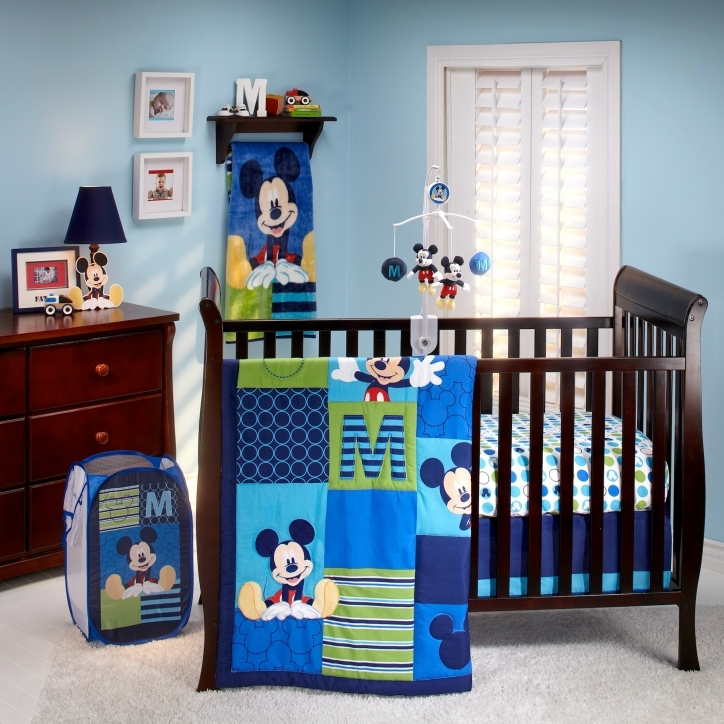 Disney Baby Crib Bedding Sets M Is For Mickey Mouse Blue Themes Photos
