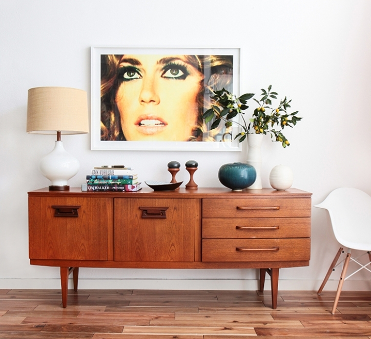 Mid Century Modern Credenza Inside Delightful Pottery Mid Century Modern Casual  Images 234