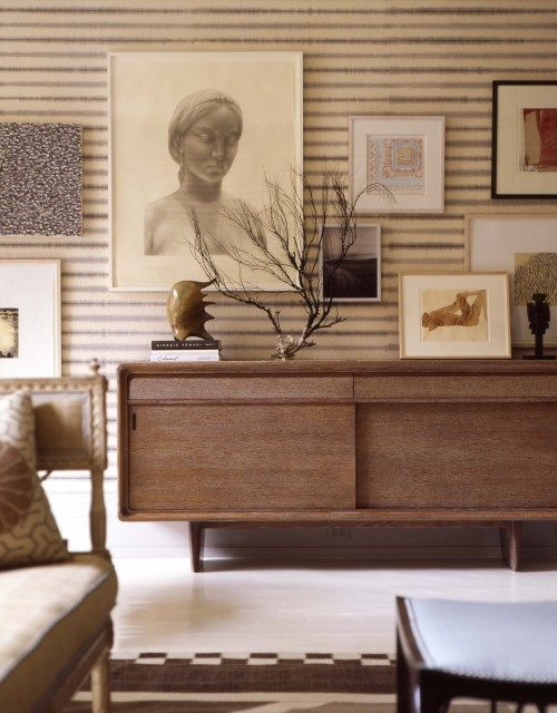 Mid Century Modern Credenza With Extraordinary Eclectic Living Room Thom Filicia Photo 407