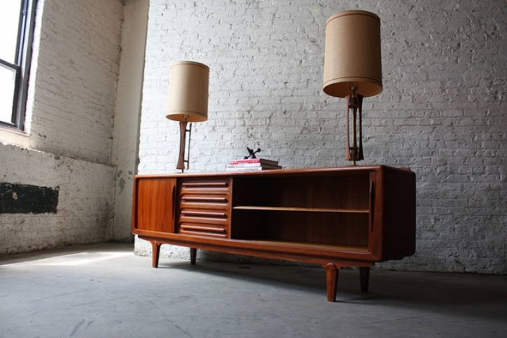 Mid Century Modern Credenza Within Stunning Danish Mid Century Modern Solid Teak Credenza Vamo Design Pic 107