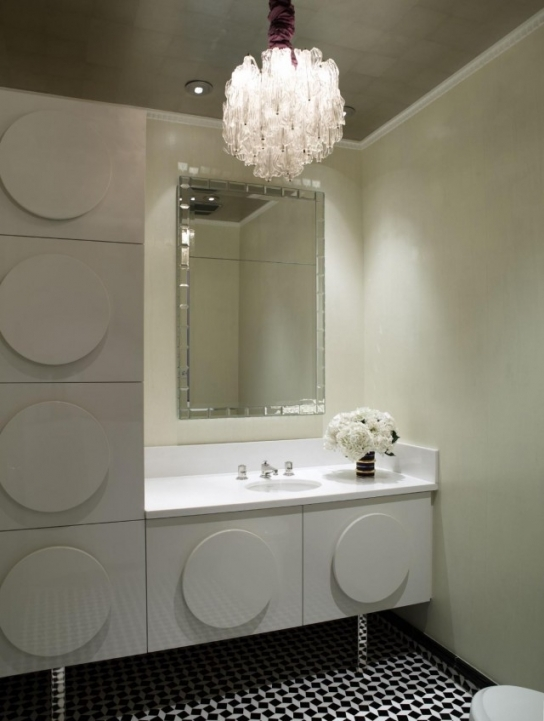Mini Crystal Chandeliers For Bathroom Extraordinary Square Chrome Mirror Frames Over Single Bowl Sink 920