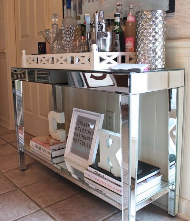 Mirrored Console Table Inside Excellent Design Ideas 260