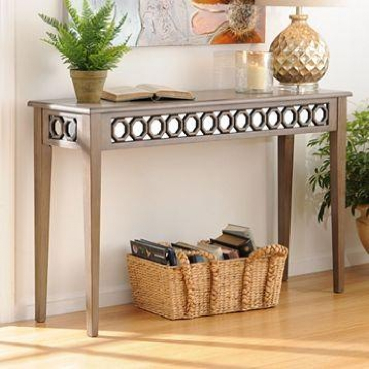 Mirrored Console Table Inside Outstanding Mirrored Octagon 378