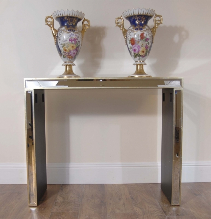 Mirrored Console Table With Delightful Art Deco Modernist Mirrored Console Table Retro 341