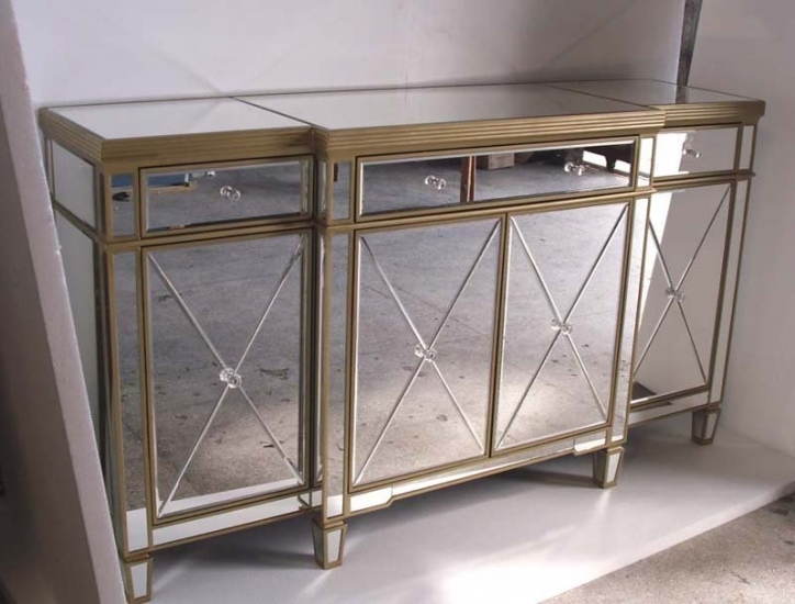 Mirrored Console Table With Gorgeous Mirrored Buffet Table As Interior Decoration 446
