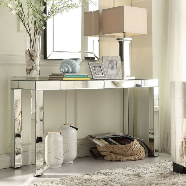 Mirrored Console Table With Wonderful INSPIRE Q Fascual 2 Drawer 056