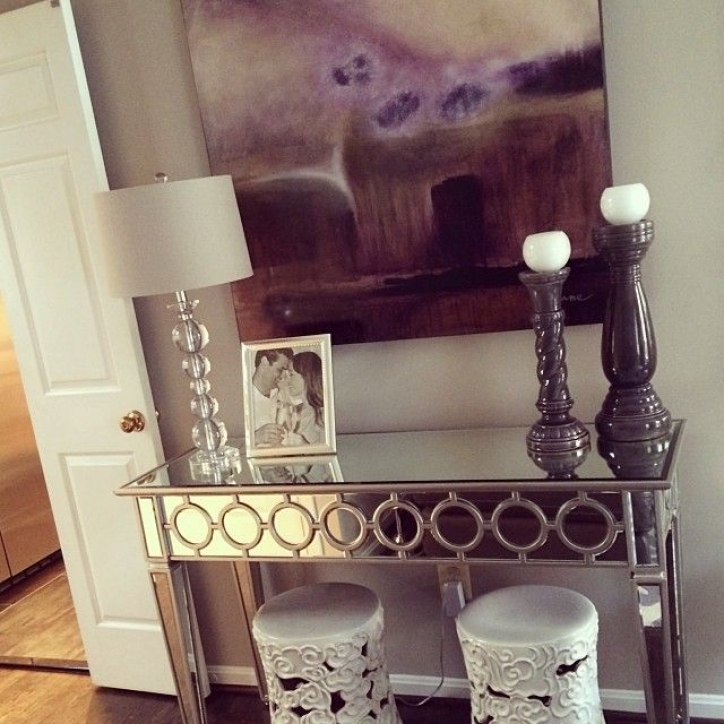 Mirrored Console Table Within Attractive Elevated Entryway Console Tables And Mirror 274