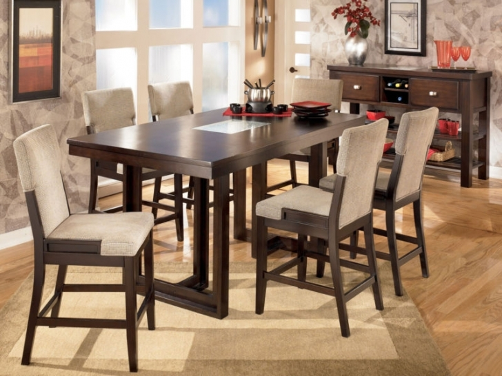 Modern Counter Height Dining Set With Cozy Dining Room Furniture Ideas Picture