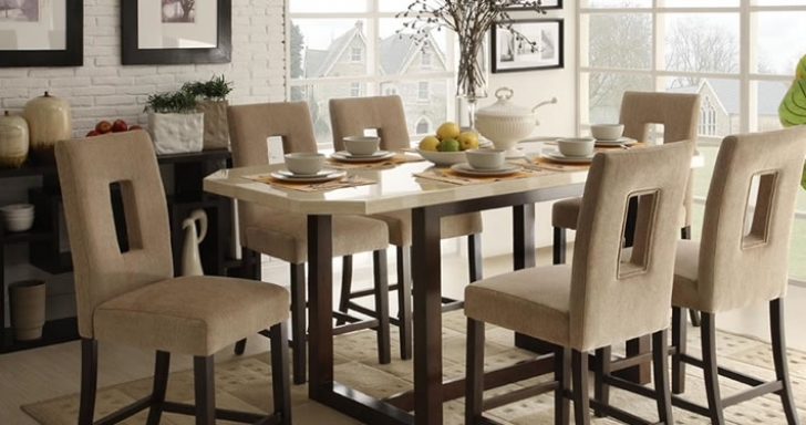 Modern Counter Height Dining Set Within Awesome Chicago Design Contemporary Furniture Image