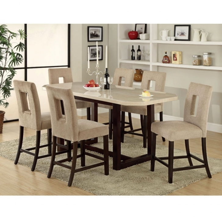 Modern Counter Height Dining Sets Inside Excellent Rexton 7 Piece Photo