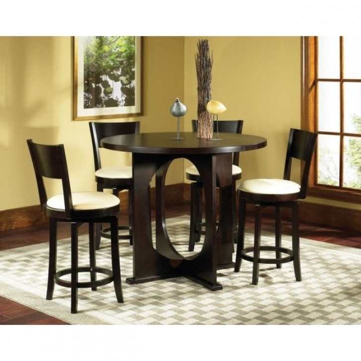 Modern Counter Height Dining Sets With Cozy 5pc Rossi Furniture Design Image