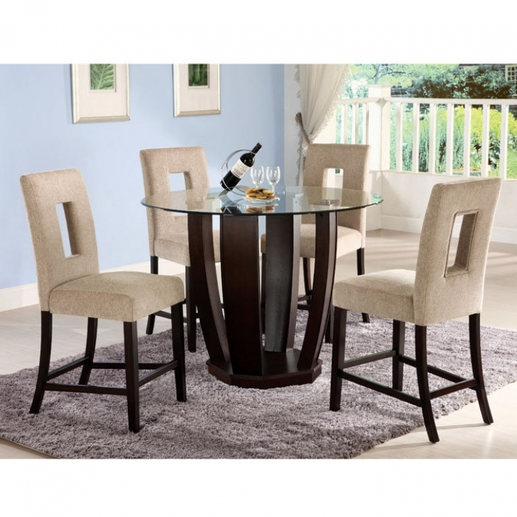 Modern Counter Height Dining Sets With Marvelous Parsley Piece Contemporary Glass Top Dining Room Sets Images