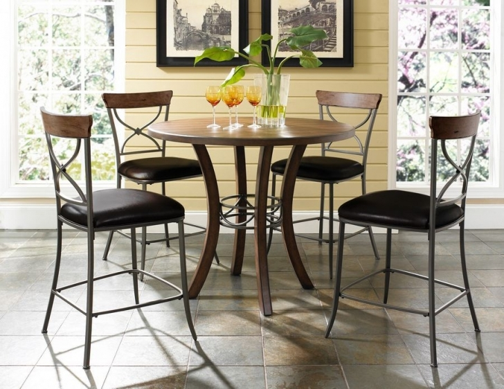 Modern Counter Height Dining Table Set Within Beautiful Wooden Table Stylish Ideas Photos