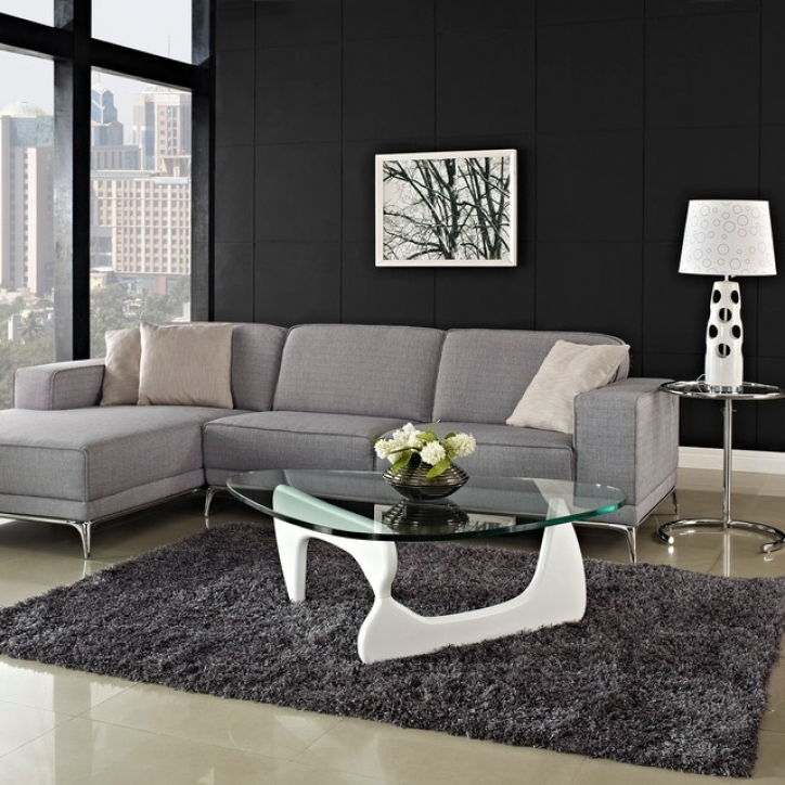 Noguchi Coffee Table Within Wonderful White Glass Coffee Table Picture 617