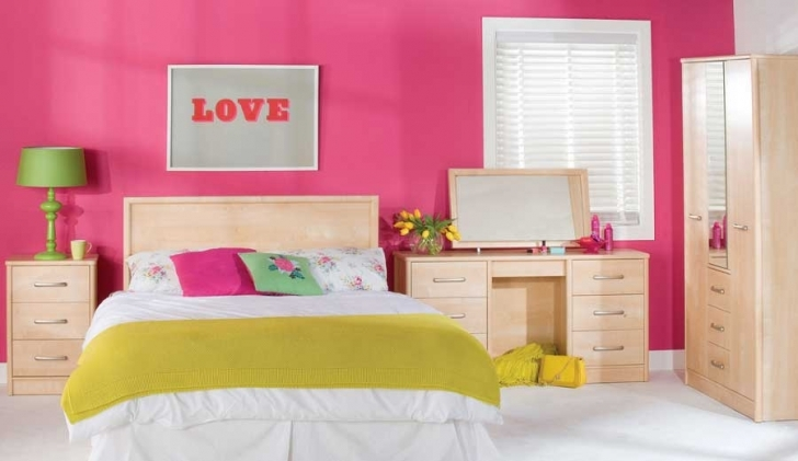 Paint Colors For Bedrooms With Light Wood Furniture With Gorgeous Design Ideas With Wall Color Pink Nice For Girls Bedroom Design Photos
