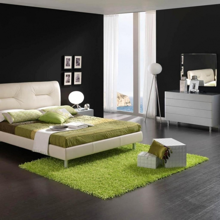 Paint Colors For Bedrooms With Light Wood Furniture Within Outstanding Interior Set Ball Tripod Floor Lamp Put On Near Black Wall Pic