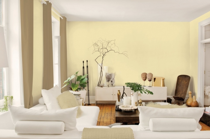 Paint Colors For Living Room Inside Outstanding Yellow Living Room Decorating And White Furniture Ideas 957