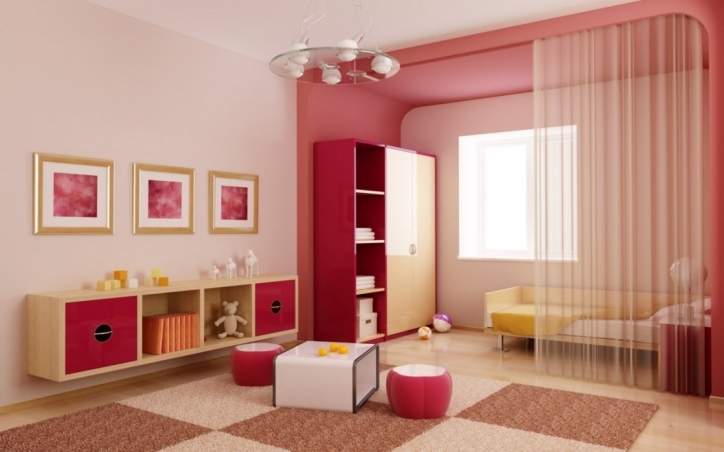 Paint Colors For Living Rooms Inside Attractive Pink Wall And Red Accent Furniture 489