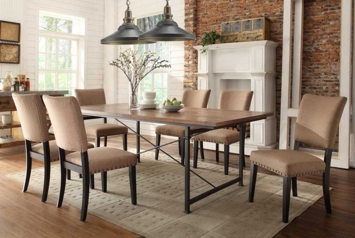 Rustic Dining Room Sets Inside Brilliant Rustic Wood Dining Table Set Photo 516