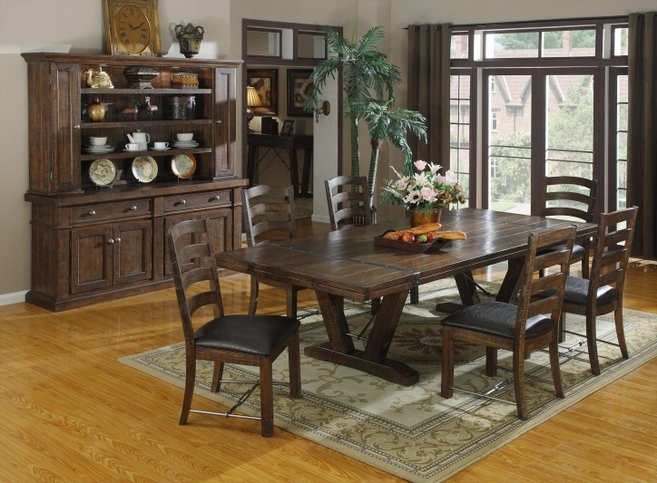 Rustic Dining Room Sets Regarding Inspiring Tropical Dining Room Furniture Pic 759